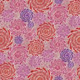 Modern summer background in red and purple with swirl Stock Photo