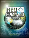 Modern summer beach party poster design Royalty Free Stock Photography