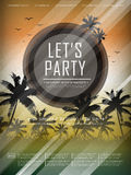 Modern summer beach party poster design Stock Photography
