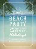 Modern summer beach party poster design Stock Images
