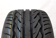 Modern summer car tire Royalty Free Stock Image
