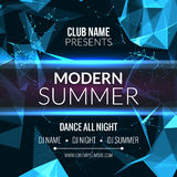 Modern Summer Club Music Party Template, Dance Party Flyer, brochure. Night Party Club sound Banner Poster. Royalty Free Stock Photo