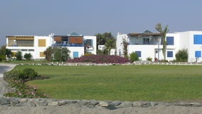 Modern summer houses at the south of Lima beach Stock Photos