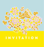 Modern summer pale color floral pattern vector illustration. Pri Royalty Free Stock Photo