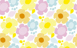 Modern summer pale color floral seamless pattern Stock Photos