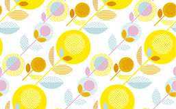 Modern summer pale color floral seamless pattern Royalty Free Stock Photo
