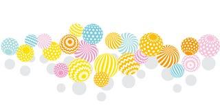 Modern summer pale color geometry design element. vector illustr Royalty Free Stock Photos