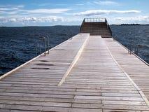 Modern sun bathing relax deck Stock Photo