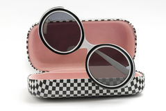 Modern sunglasses with case Stock Photography