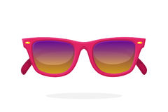 Modern sunglasses with pink mirror lenses Royalty Free Stock Image