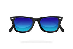 Modern Sunglasses With Blue Mirror Lenses Royalty Free Stock Images