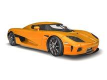 Modern Super Car 1. 3D render of Koenigsegg CCX on white background Royalty Free Stock Image