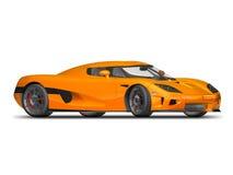 Modern Super Car 3. 3D render of Koenigsegg CCX on white background Royalty Free Stock Images