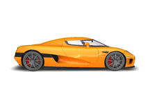 Modern Super Car 5. 3D render of Koenigsegg CCX on white background Stock Photography