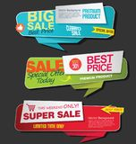 Modern super sale flat banner collection Stock Photography