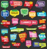 Modern super sale flat banner collection Royalty Free Stock Photography