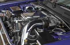 Modern supercharged high performance engine Royalty Free Stock Photography