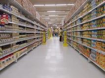 modern supermarket Arkivbilder