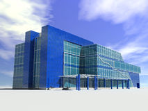 Modern supermarket building. (computer generated image Royalty Free Stock Photos