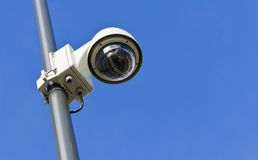 Modern Surveillance camera from low angle Royalty Free Stock Photo