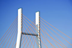 Modern suspension bridge. Royalty Free Stock Photography