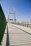 Modern suspension bridge. Stock Photography