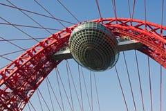 Modern suspension bridge Royalty Free Stock Images
