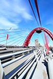 Modern suspension bridge Royalty Free Stock Photo