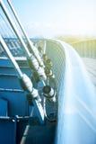 Modern suspension bridge perspective Stock Photography