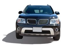 Modern SUV isolated on a white Stock Images