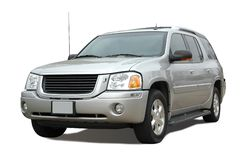 Modern SUV isolated on a white Royalty Free Stock Images
