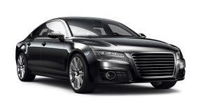 modern svart bil Arkivfoton