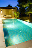 Modern swimming pool. In nature Stock Photo