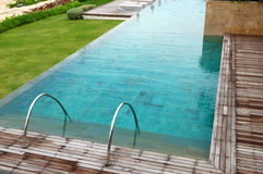 Modern swimming pool at the luxury hotel Stock Photography