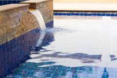 Modern swimming pool outdoor. Royalty Free Stock Photos