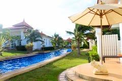 Modern Swimming pool relaxing time Stock Image