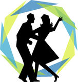 Modern Swing Dance Couple/eps Stock Image