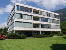 Modern Swiss School. A view of a Modern Swiss Secondary Schho in Interlaken, Switzerland Stock Images