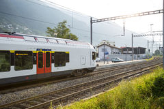 Modern Swiss train Royalty Free Stock Photography