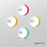 Modern symbol colorful circle infographic template elements Royalty Free Stock Image