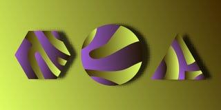 Modern symbol för abstrakt begrepp 3D stock illustrationer