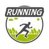 Modern  symbol for run. Royalty Free Stock Photo