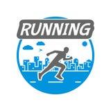Modern  symbol for run. Stock Images