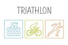 Modern  symbol for triathlon. Stock Photography