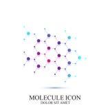 Modern symbolsdna och molekyl Vektormall för medicin, vetenskap, teknologi, kemi, bioteknik royaltyfri illustrationer