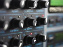 Modern Synthesizer Closeup Stock Image