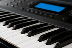 Modern Synthesizer - Piano Keyboard Stock Image