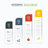 Modern tab index infographic options template with paper sheets. Step business growth. Vector element can be used for web design and workflow layout Stock Photos