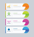Modern tab index infographic options template with paper sheets. Stock Images