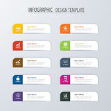 Modern tab index infographic options template with paper sheets. Vector element can be used for web design and workflow layout Royalty Free Stock Images